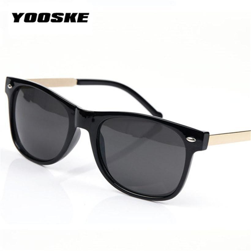 Women Vintage Square Shaped Sunglasses With 100% UV 400 Protection-Black-JadeMoghul Inc.