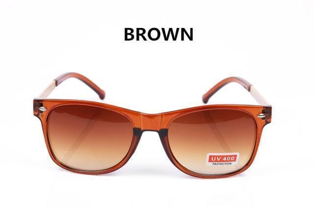 Women Vintage Square Shaped Sunglasses With 100% UV 400 Protection-Brown-JadeMoghul Inc.