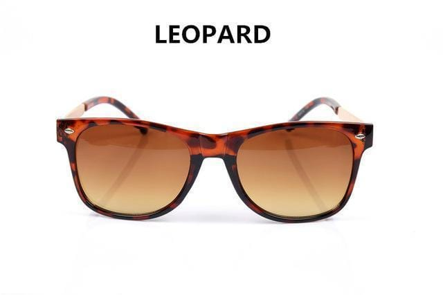 Women Vintage Square Shaped Sunglasses With 100% UV 400 Protection-Leopard-JadeMoghul Inc.