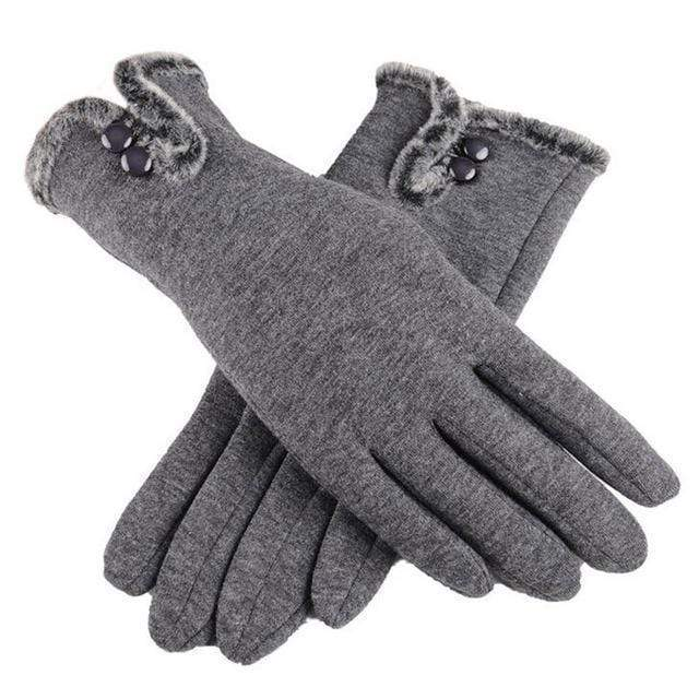 Women Warm Wool Gloves With Soft Fur Inner Lining AExp