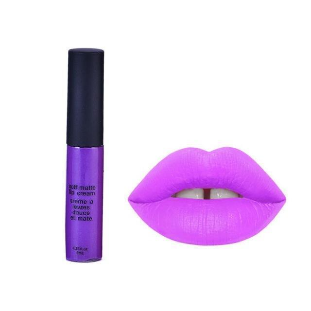 Women Waterproof Lipstick Matte Smooth Lip Stick Lipgloss Long Lasting Sweet Girl Lip Makeup 12 Colors-12-JadeMoghul Inc.