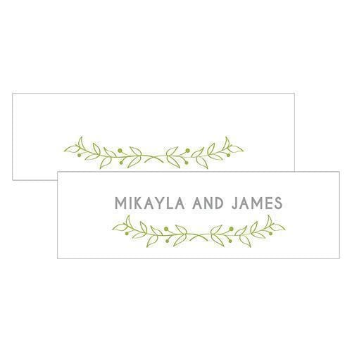Woodland Pretty Small Rectangular Tag Grass Green (Pack of 1)-Wedding Favor Stationery-Grass Green-JadeMoghul Inc.