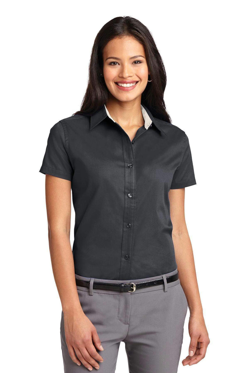Woven Shirts Port Authority Ladies Short Sleeve Easy Care  Shirt.  L508 Port Authority