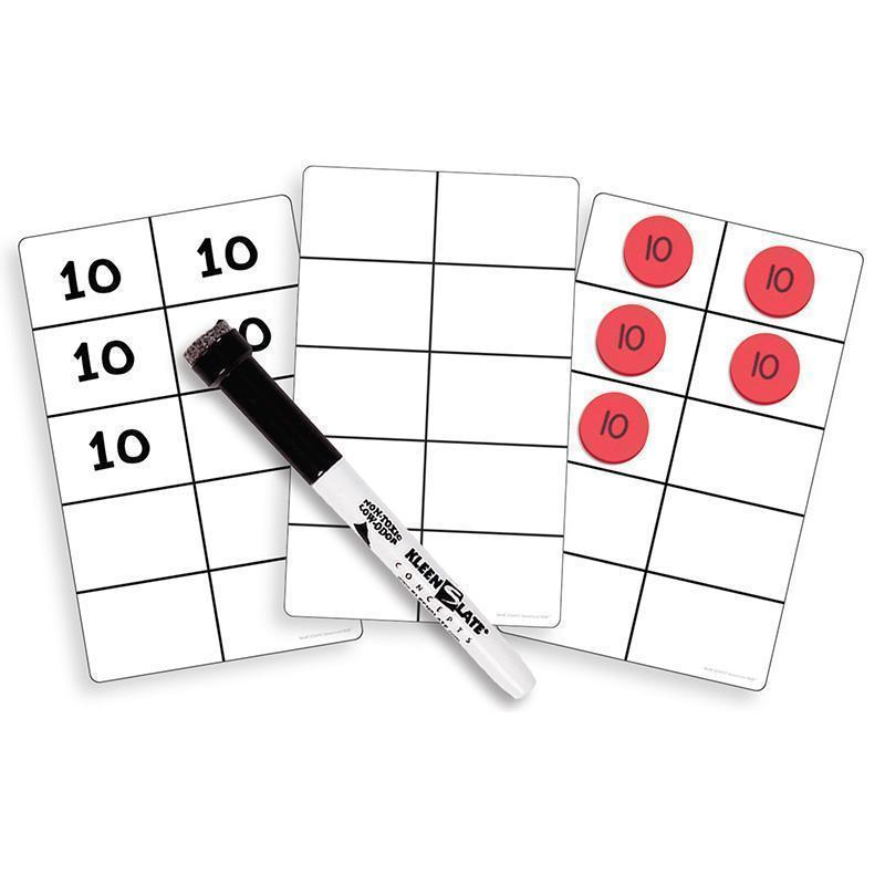 WRITE ON WIPE OFF TEN FRAME CARDS-Learning Materials-JadeMoghul Inc.