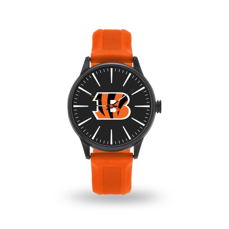 Watches For Men On Sale Bengals Cheer Watch With Orange Watch Band