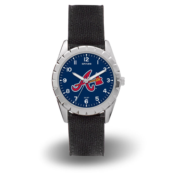 BRAVES SPARO NICKEL WATCH - MLB-WTNKL Sparo Nickel Watch-JadeMoghul Inc.