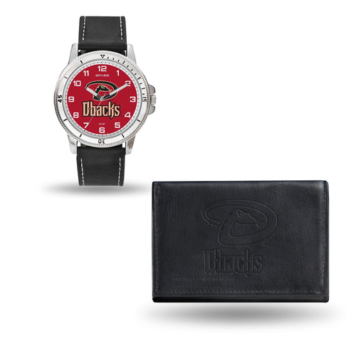 WTWAWA Watch and Wallet Set (Chicago Watch) ARIZONA DIAMONDBACKS MENS BLACK WATCH AND WALLET - MLB Default Title JadeMoghul