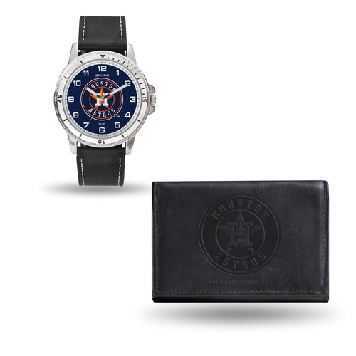 WTWAWA Watch and Wallet Set (Chicago Watch) HOUSTON ASTROS MENS BLACK WATCH AND WALLET - MLB Default Title JadeMoghul