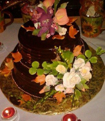 Chocolate Sugar Flower Cake