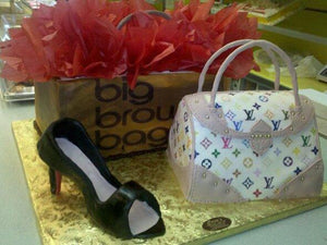 Shoes and LV Bag, and Shopping Bag Cake