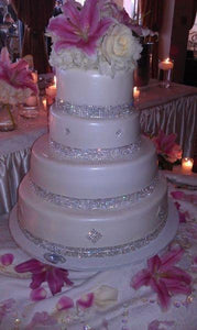 Diamond Crystals Wedding cake - W018