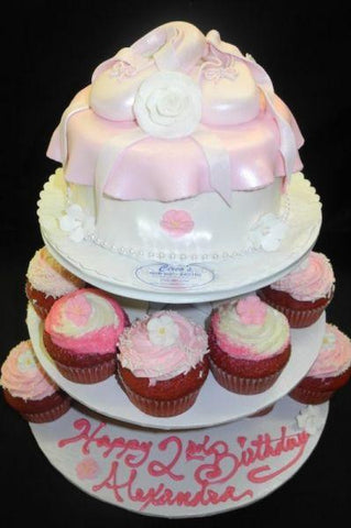 Cup Cake Stand fondant cake - BS167