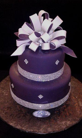 Diamond Crystal Wedding Cake - W019