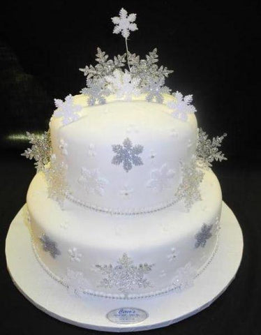 Snowflake Wedding Cake - W082