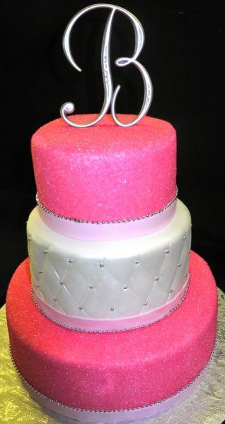 Pink Sparkle Wedding Cake