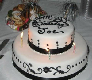 Black and White Theme 30th Birthday - B0147