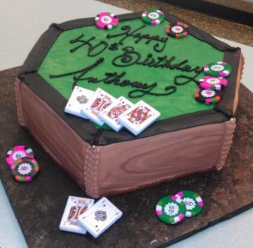 Poker Table Cake - CS0126