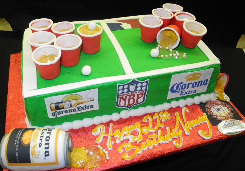 Beer Pong Table Cake - CS0065
