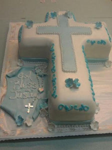 Cool Boy Cross Cake Religious R054 Circos Pastry Shop Funny Birthday Cards Online Inifodamsfinfo