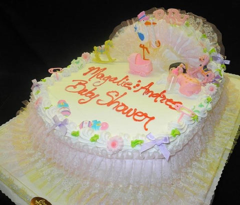 Bassinet Whip Cream Cake - BS134
