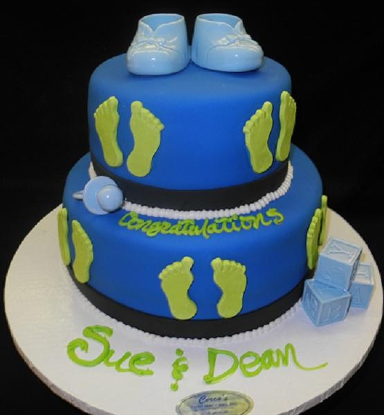 Baby Shower Cake Shoes and Blocks - BS104