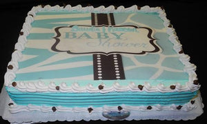 Baby Shower Cream Cake - BS108