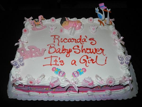 Baby Shower Cream Cake Girl - BS049
