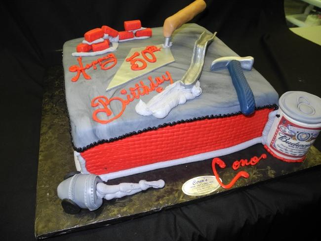Construction Cake Retirement or Birthday - B0701