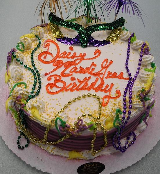 Mardi Gras with Beeds Cake Cream - B0540