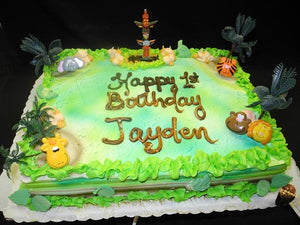 Jungle Birthday Cake - B0579