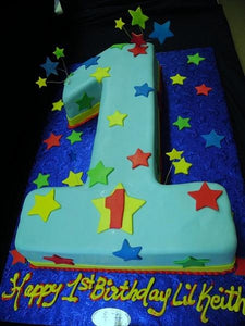 # 1 Shape Cake for First Birthday Parties - B0834