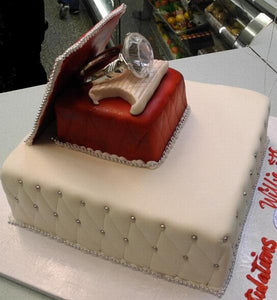 Engagement Ring Box Cake - W138