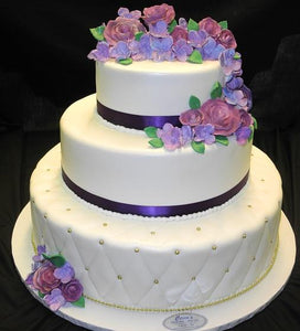 Wedding Cake Lavender & Purple Flowers - W038