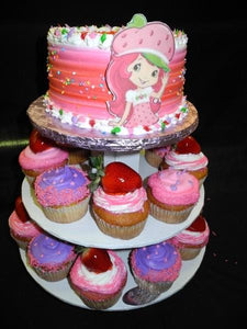 Cup Cake Stand with Strawberry Short Cake - CC089