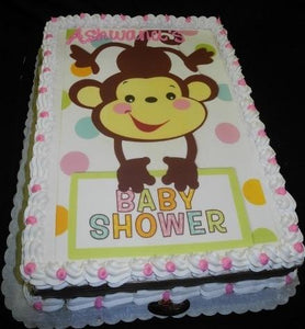 Monkey Theme Baby shower cake - BS027