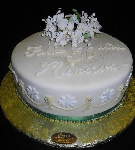 Elegent 50th Birthday Cake - B0107