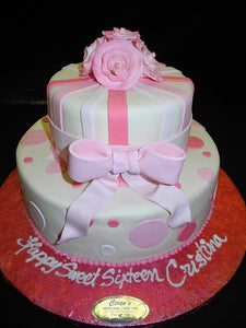 Sweet Sixteen Cake Pink and white - B0294