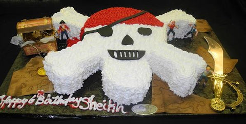 Pirates Skull Cake - CS0130