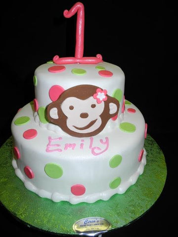 Monkey 1st Birthday Cake - B0503