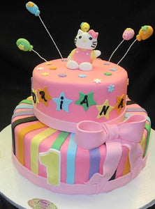 Hello Kitty Cake 2 Tier - B0607