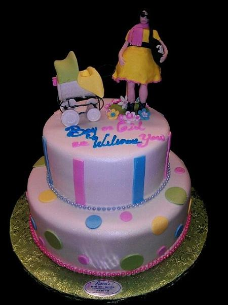 Baby Shower Cake lady and Stroller - BS103