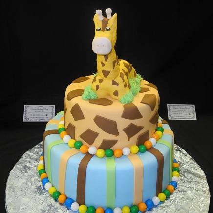 Animal Them Baby Shower Cake - BS063
