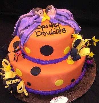 Twin Baby Shower Cake - BS306