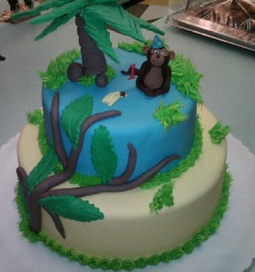 Monkey Theme Cake - BS228