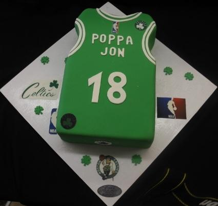 Celtics Basketball Jersy Cake - CS0250