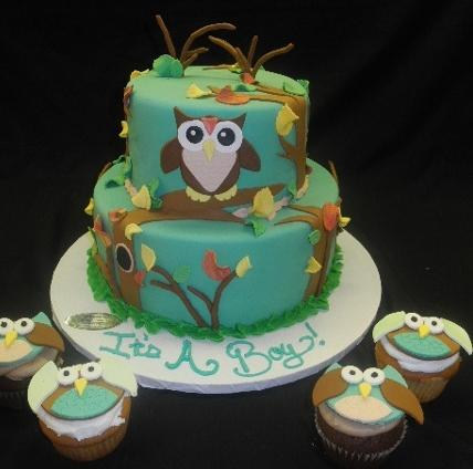 Owl Theme Cake - BS234