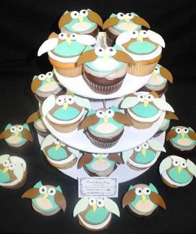 Owl Cup Cakes tower - CC061
