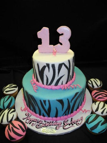 Birthday Zebra Cake - B0762