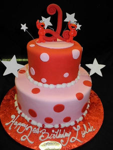 2nd Birthday Cake Elmo - B0817