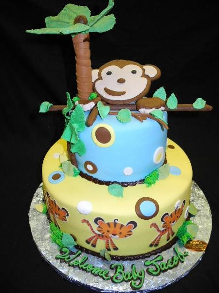 Monkey Baby Shower Cake Bs222 Circos Pastry Shop